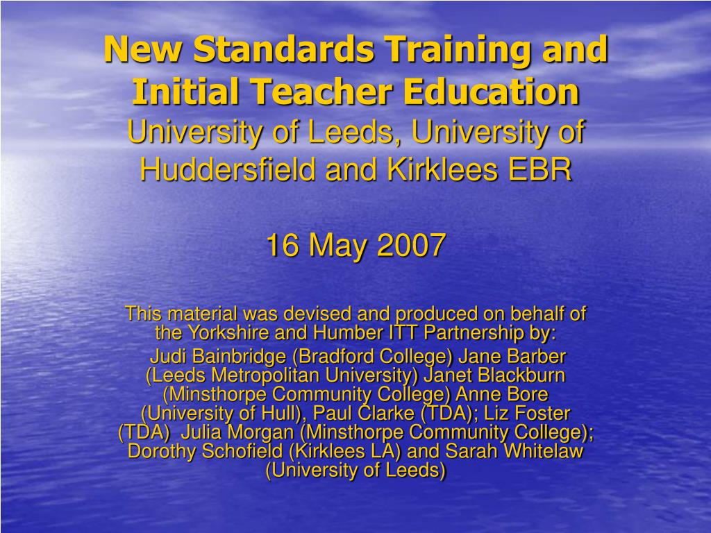 New Standards Training and