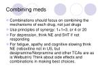 combining meds