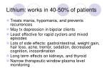 lithium works in 40 50 of patients