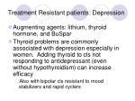 treatment resistant patients depression