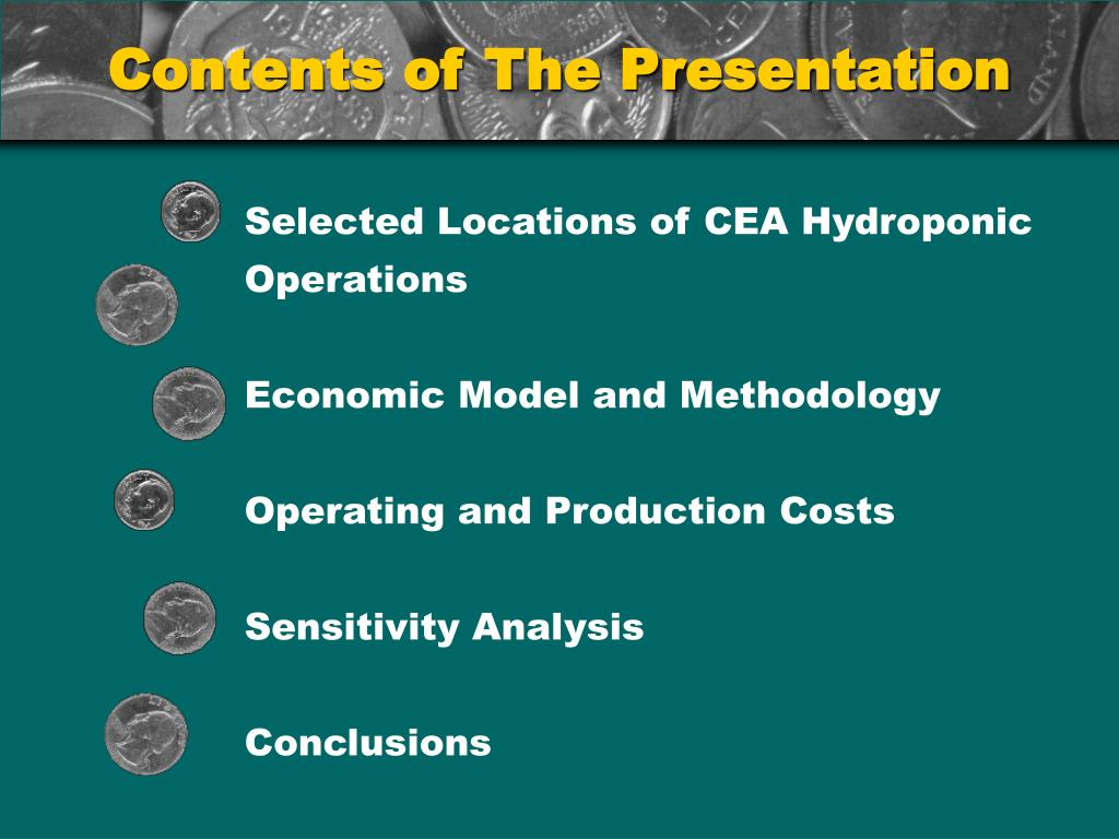 Selected Locations of CEA Hydroponic