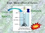 expt show effect of factors