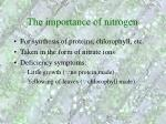 the importance of nitrogen