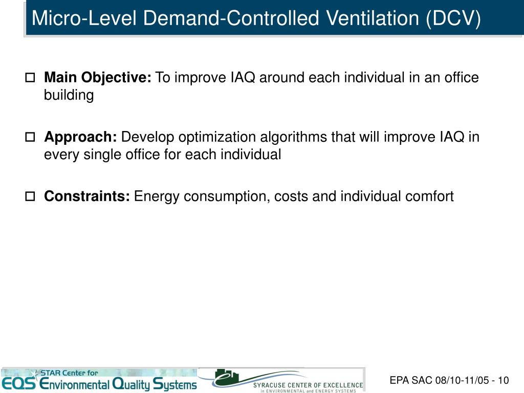 Micro-Level Demand-Controlled Ventilation (DCV)