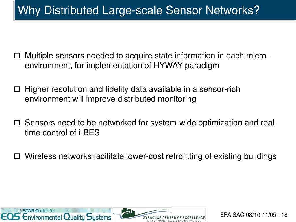 Why Distributed Large-scale Sensor Networks?