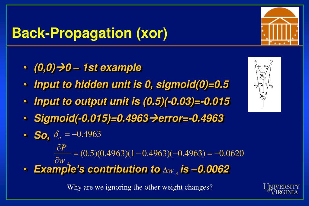 Back-Propagation (xor)