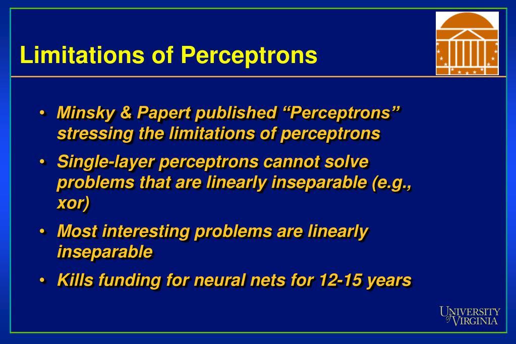 Limitations of Perceptrons