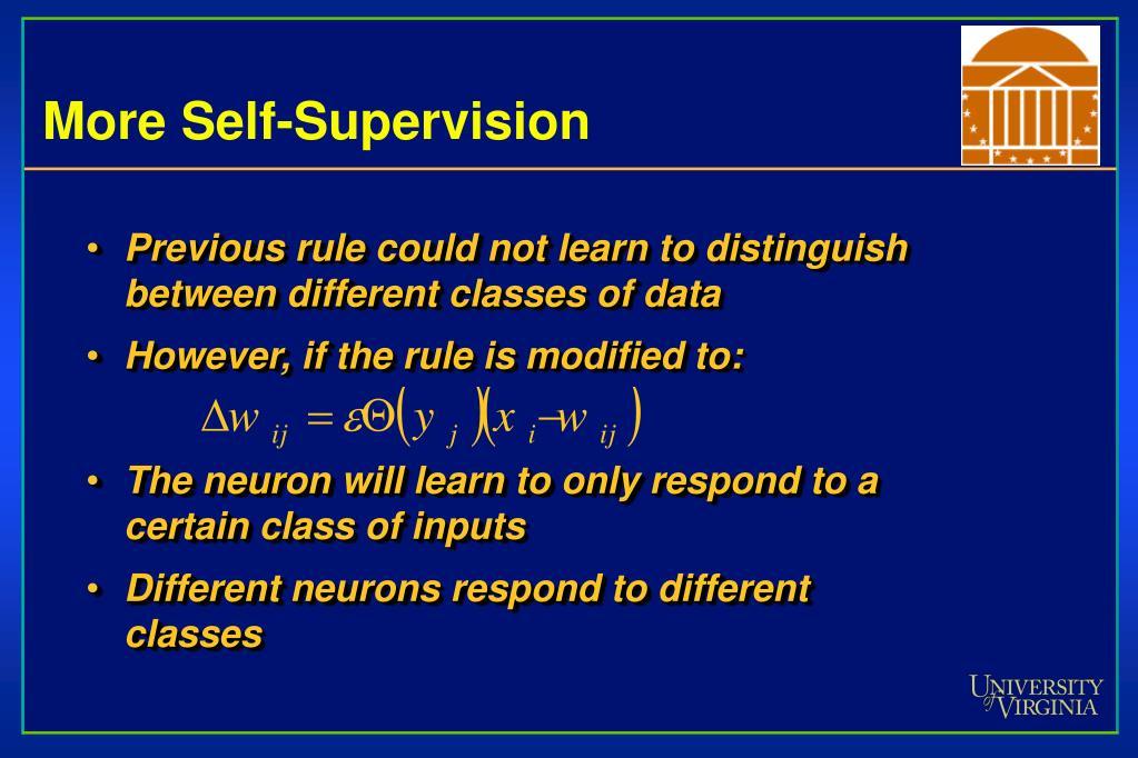 More Self-Supervision