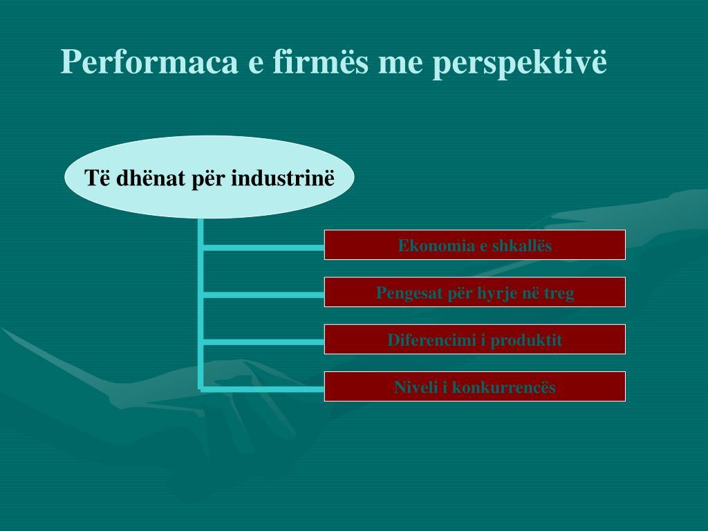 Performaca e firmës me perspektivë