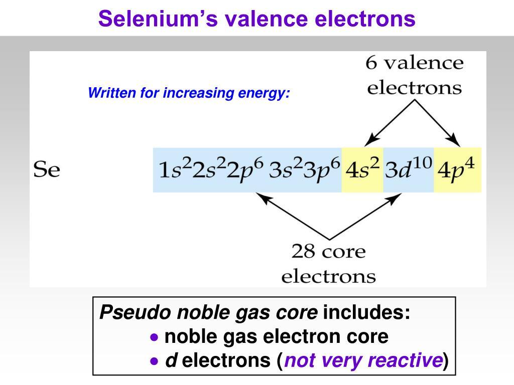 Selenium's valence electrons