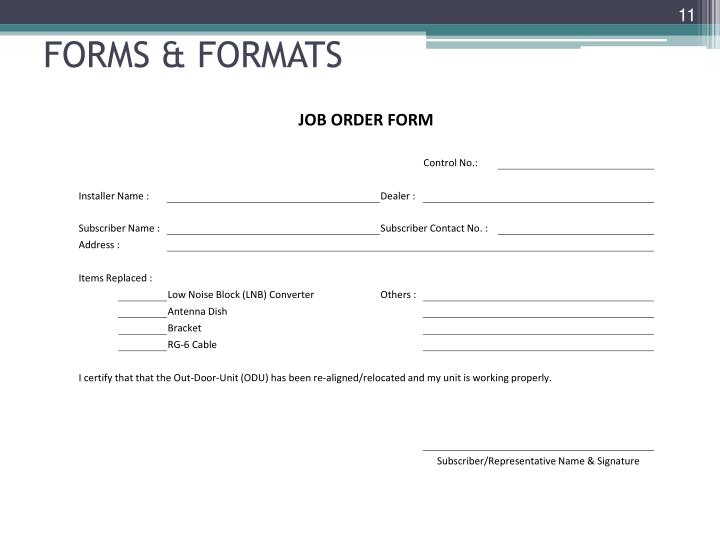 FORMS & FORMATS