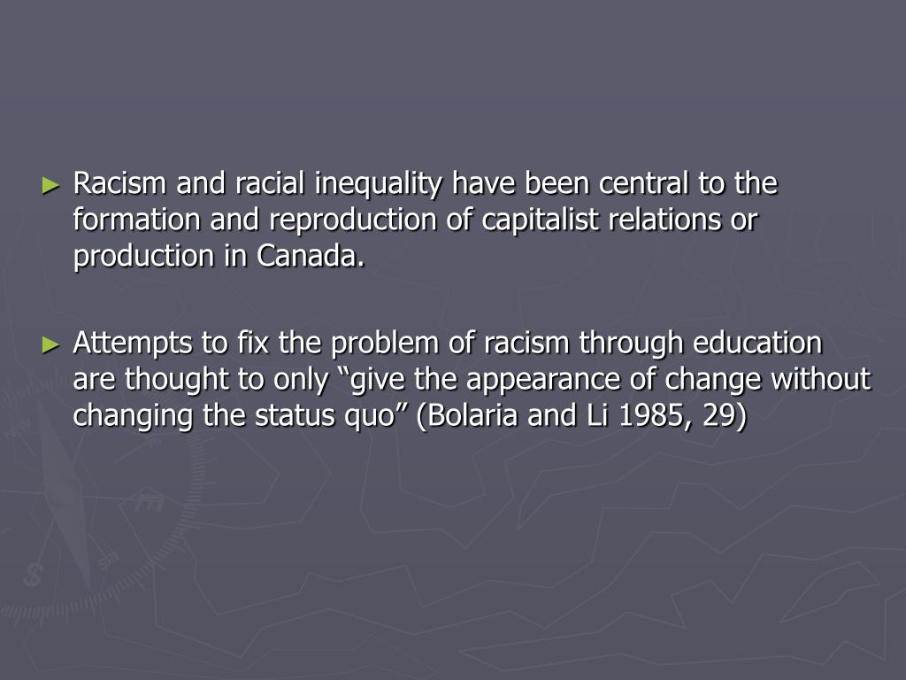 racism in education essay