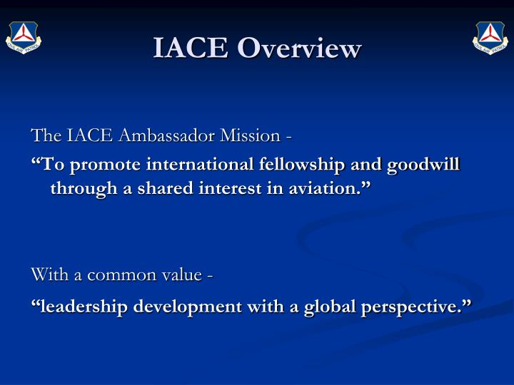 Iace overview