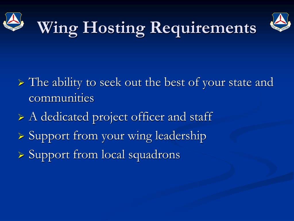 Wing Hosting Requirements