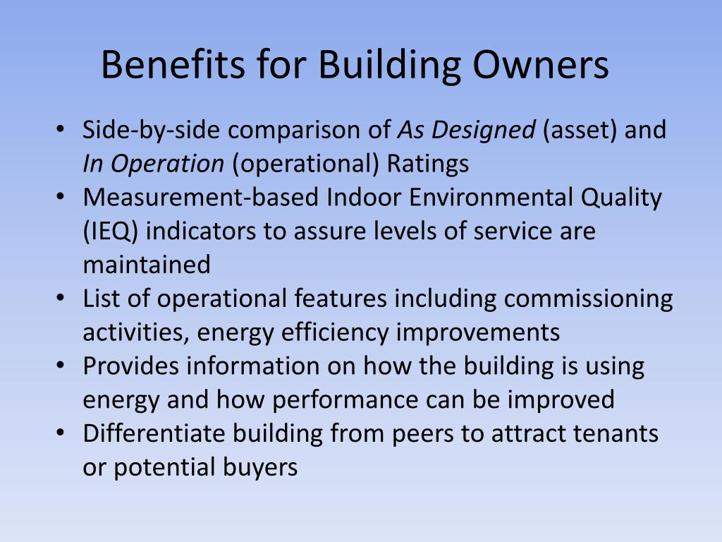 Benefits for Building Owners