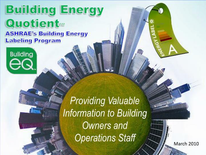Building energy quotient ashrae s building energy labeling program