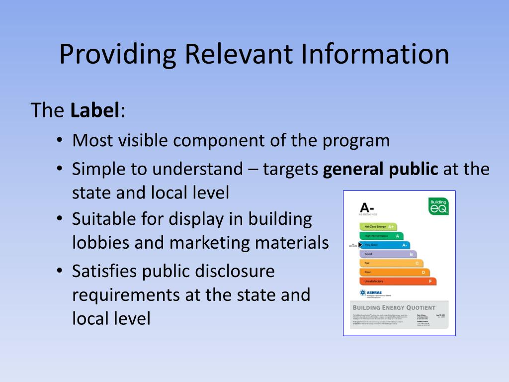 Providing Relevant Information