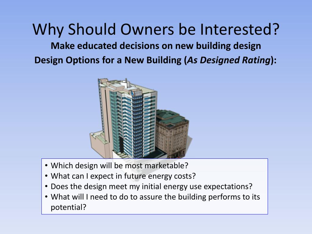 Why Should Owners be Interested?