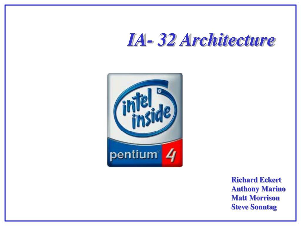 ia 32 architecture
