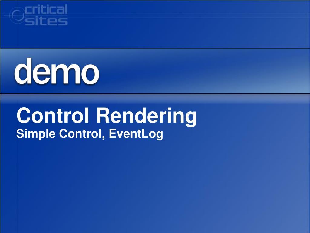 Control Rendering