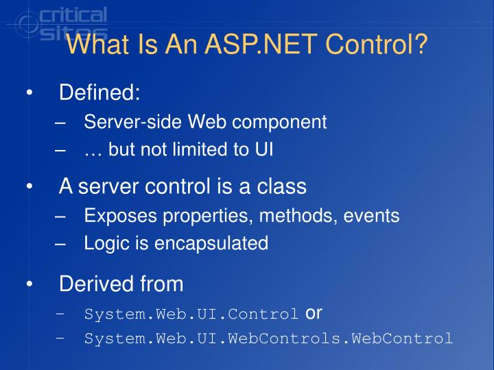What is an asp net control