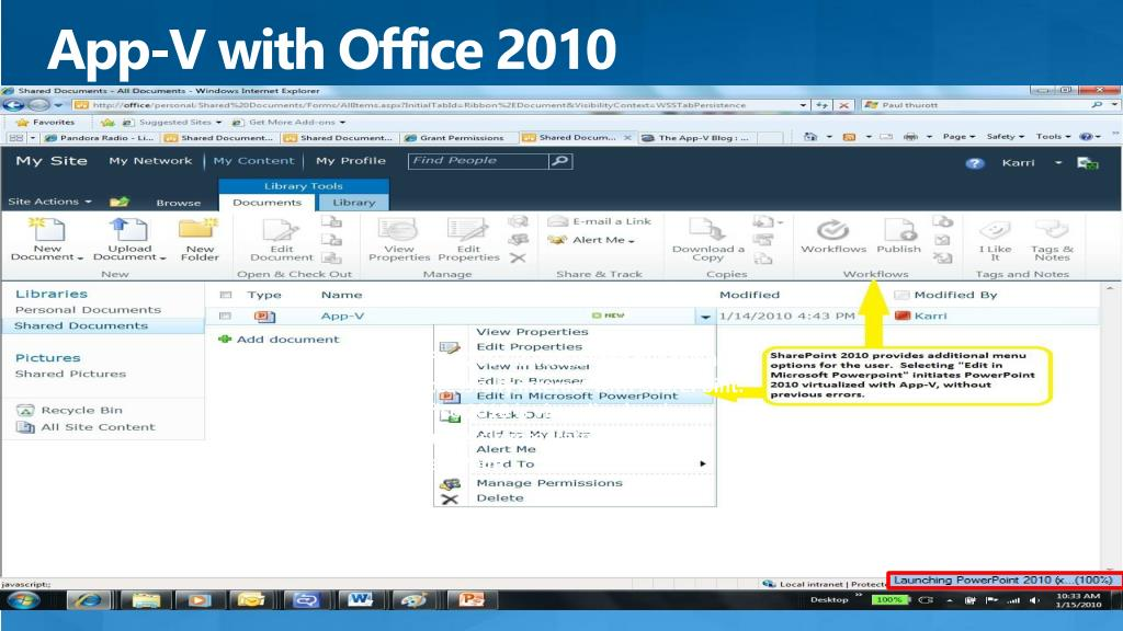 App-V with Office 2010