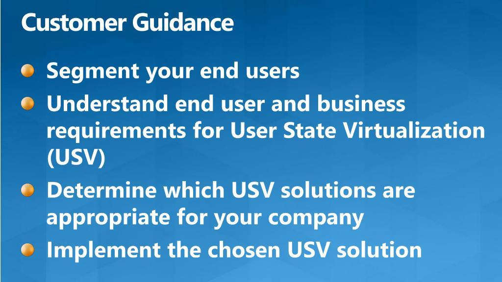 Customer Guidance