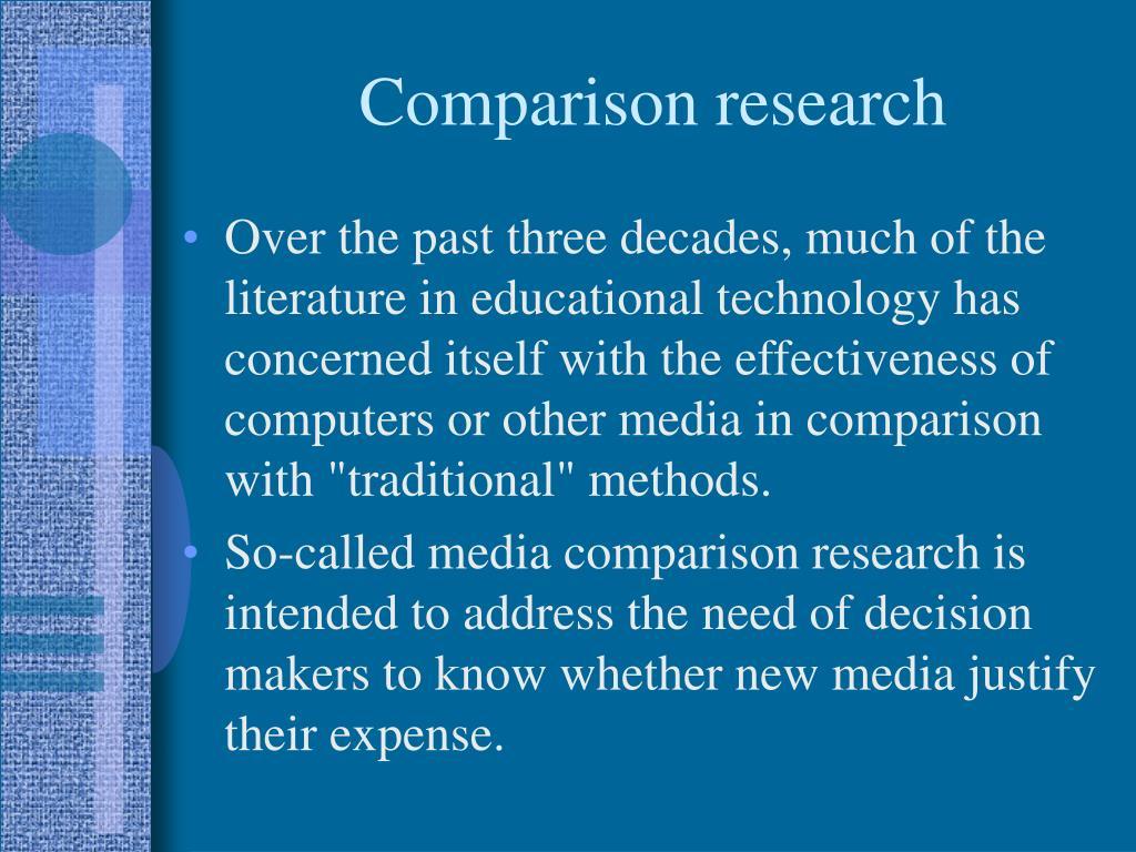 Comparison research