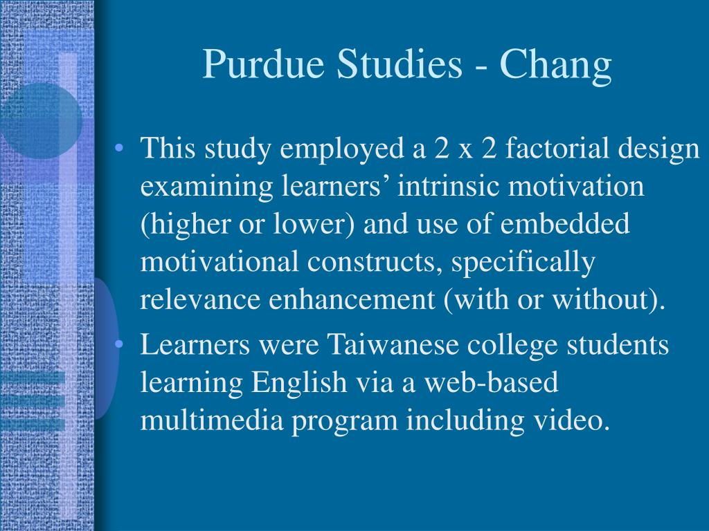 Purdue Studies - Chang