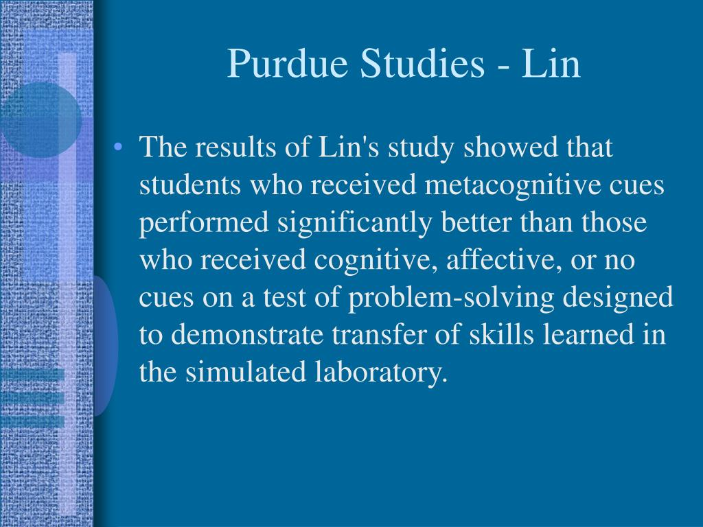 Purdue Studies - Lin
