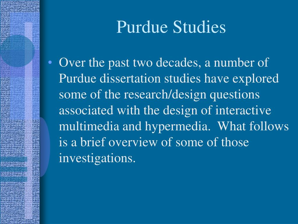 Purdue Studies