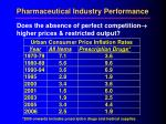 pharmaceutical industry performance