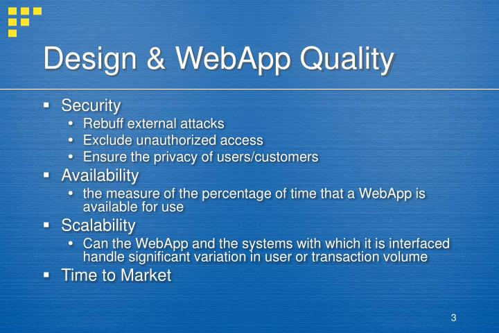 Design webapp quality