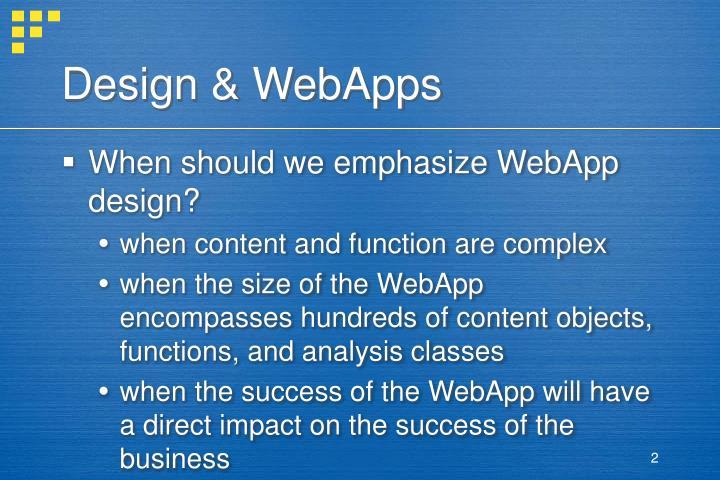 Design webapps