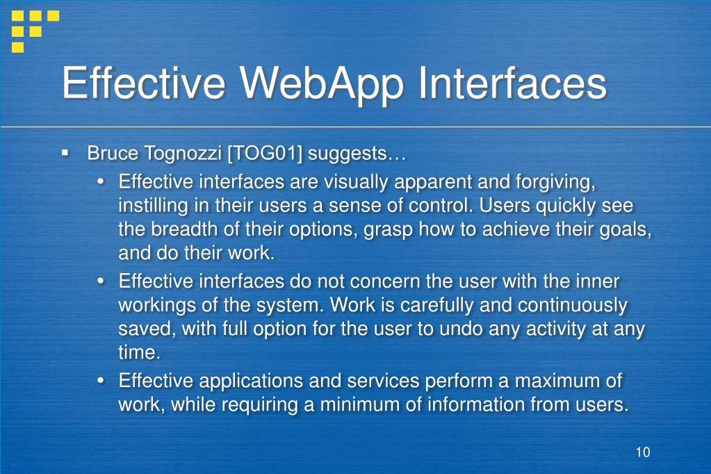 Effective WebApp Interfaces