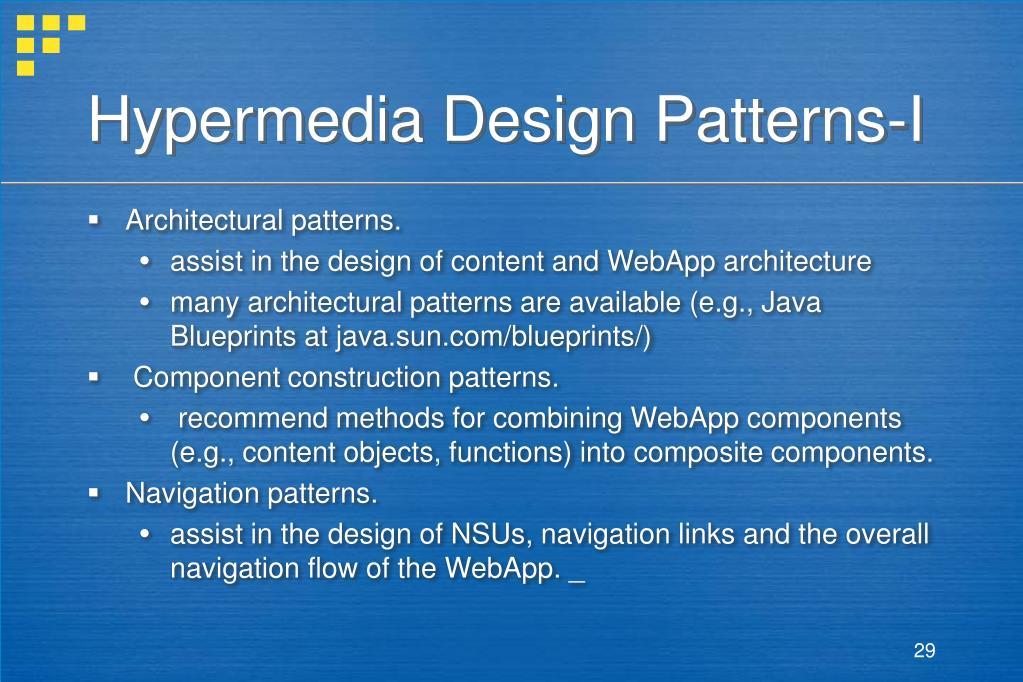 Hypermedia Design Patterns-I