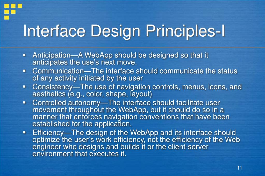 Interface Design Principles-I