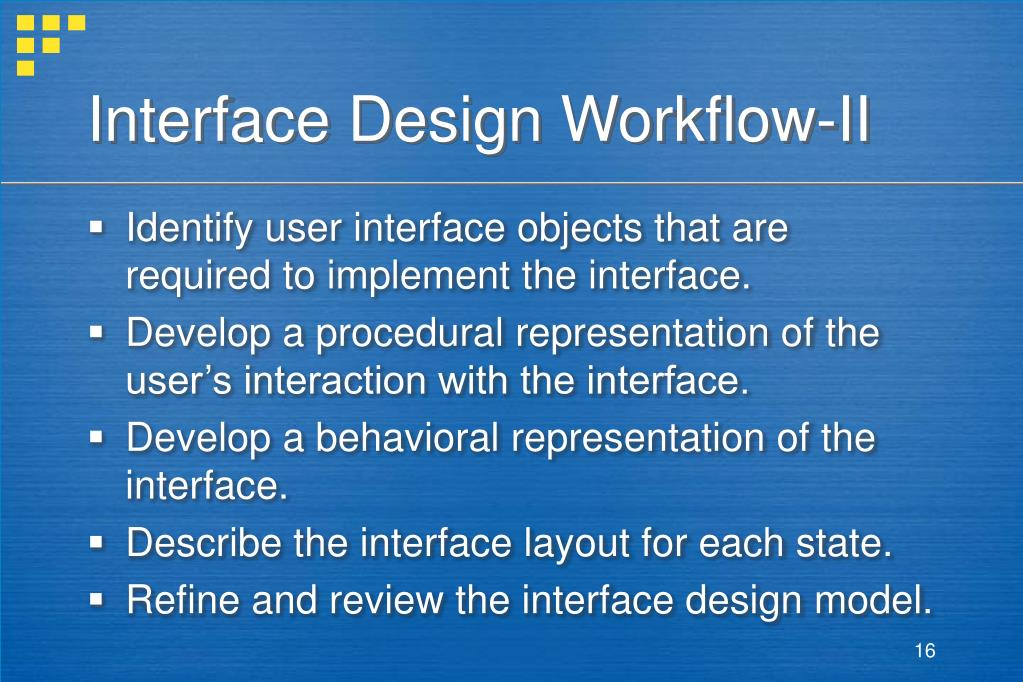Interface Design Workflow-II