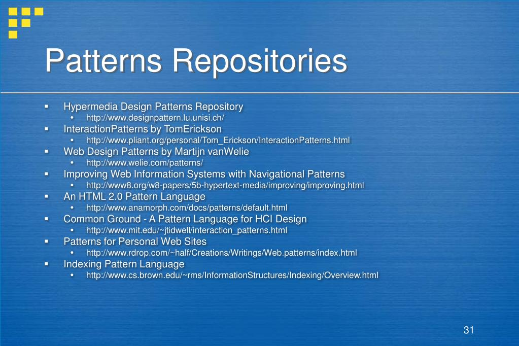 Patterns Repositories