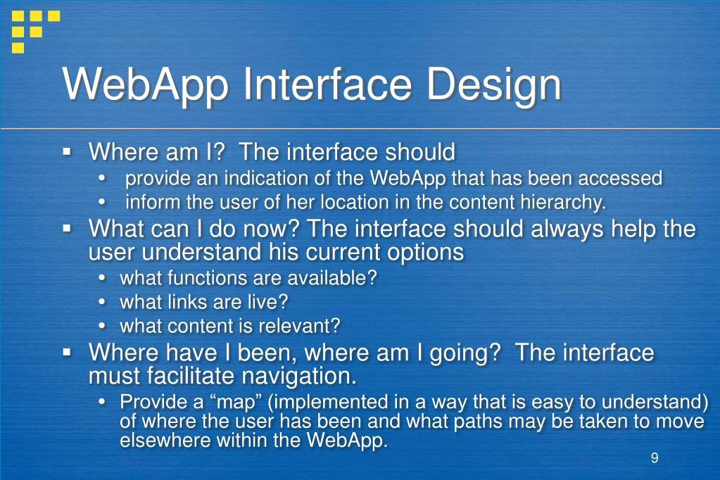 WebApp Interface Design