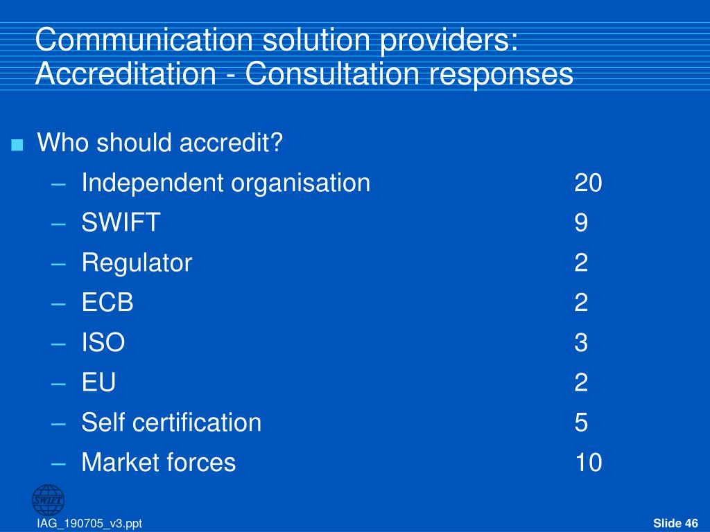 Communication solution providers: