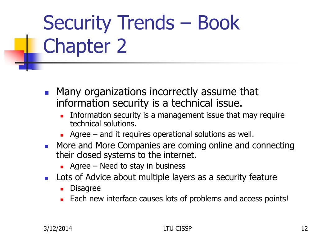 Security Trends – Book Chapter 2
