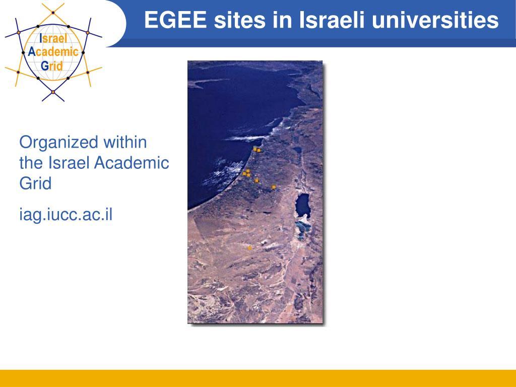 EGEE sites in Israeli universities