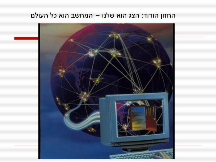 החזון הורוד: הצג הוא שלנו – המחשב הוא כל העולם