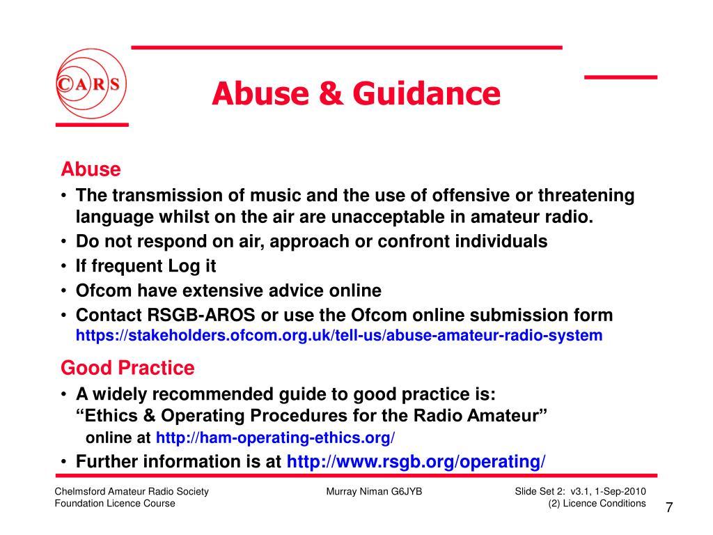 Abuse & Guidance