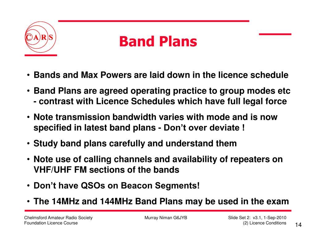 Band Plans