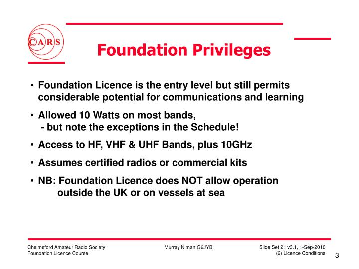 Foundation privileges