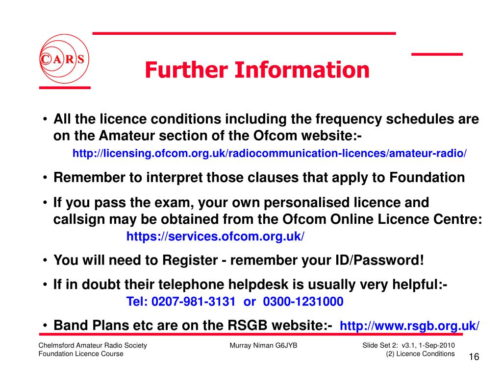 Further Information