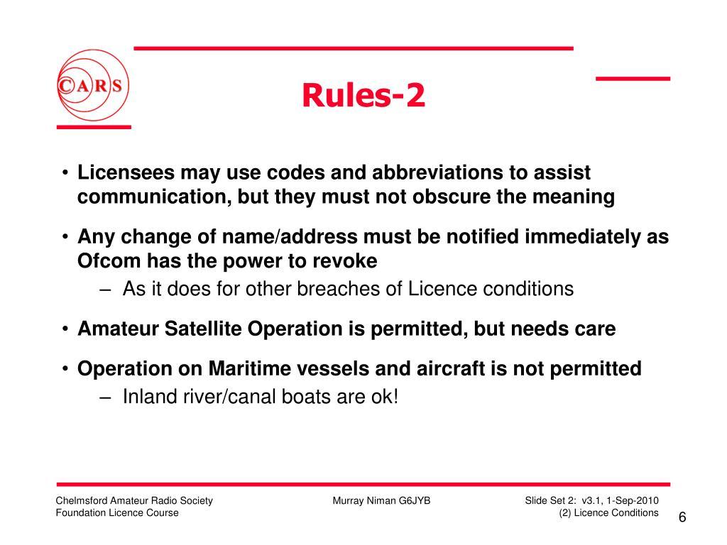 Rules-2