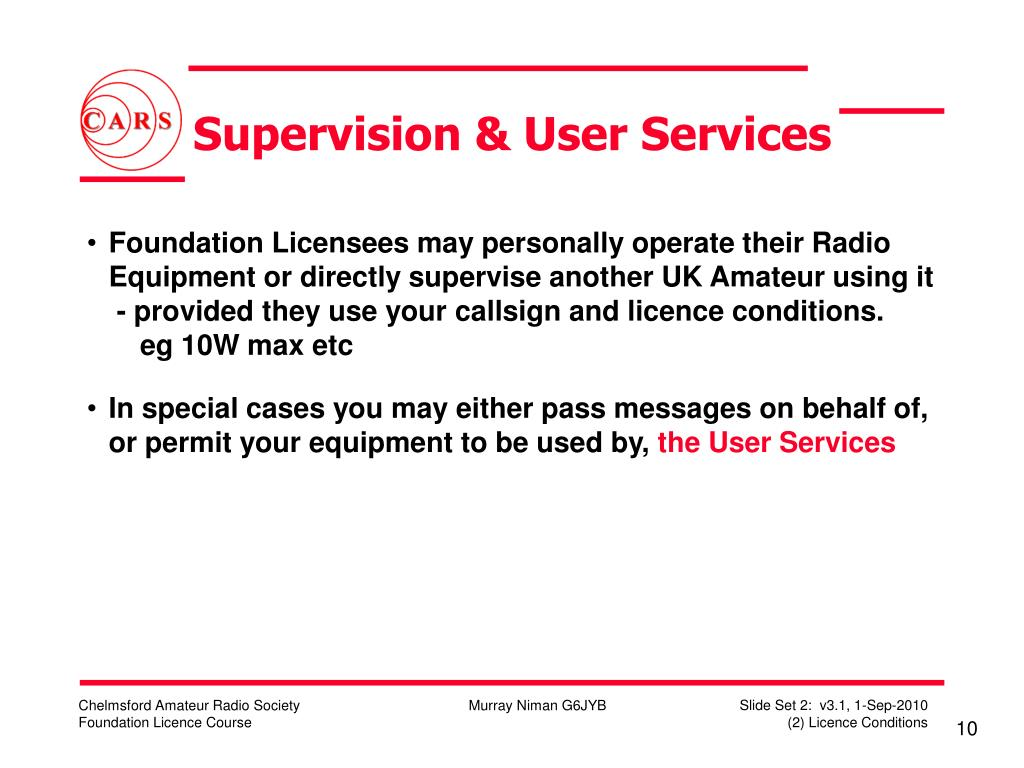 Supervision & User Services